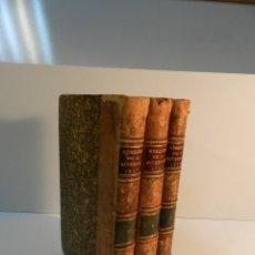 Libros antiguos: MEMOIRES DEPARTAMENT DE LA NIEVRE 1827 TRES VOLÚMENES - MEDIA PIEL MR. JEAN-BAPTISTE LA ROCHELLE. Lote 195968303