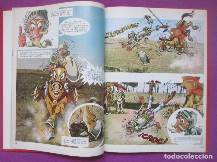 Libros antiguos: 6 TOMOS LIBROS DON QUIJOTE DE LA MANCHA ED. NARANCO 1972 MIGUEL DE CERVANTES COMIC - Foto 4 - 195968436