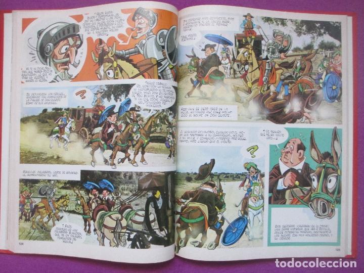 Libros antiguos: 6 TOMOS LIBROS DON QUIJOTE DE LA MANCHA ED. NARANCO 1972 MIGUEL DE CERVANTES COMIC - Foto 5 - 195968436