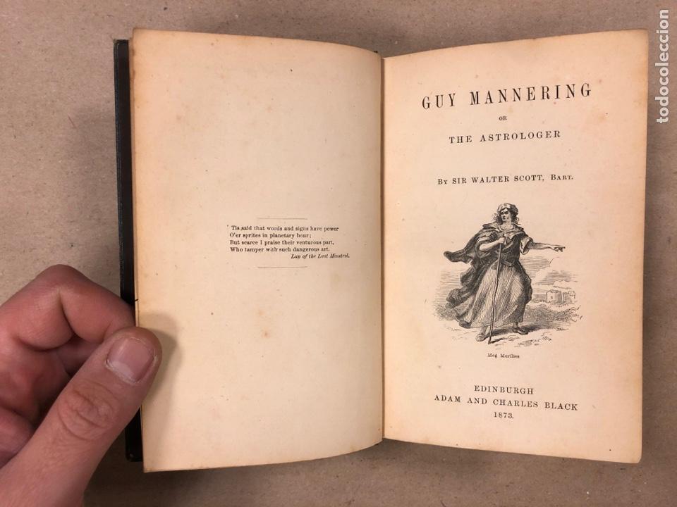 Libros antiguos: BAVERLEY NOVELS. LOTE DE 6 LIBROS DE 1873: GUY MANNEIRO, THE ANTIQUARY, IVANHOE, KENILWORTH,... - Foto 3 - 196067176
