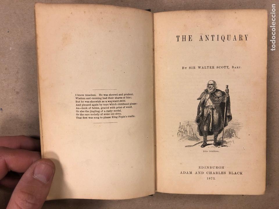 Libros antiguos: BAVERLEY NOVELS. LOTE DE 6 LIBROS DE 1873: GUY MANNEIRO, THE ANTIQUARY, IVANHOE, KENILWORTH,... - Foto 7 - 196067176