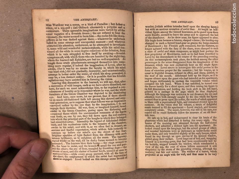 Libros antiguos: BAVERLEY NOVELS. LOTE DE 6 LIBROS DE 1873: GUY MANNEIRO, THE ANTIQUARY, IVANHOE, KENILWORTH,... - Foto 8 - 196067176