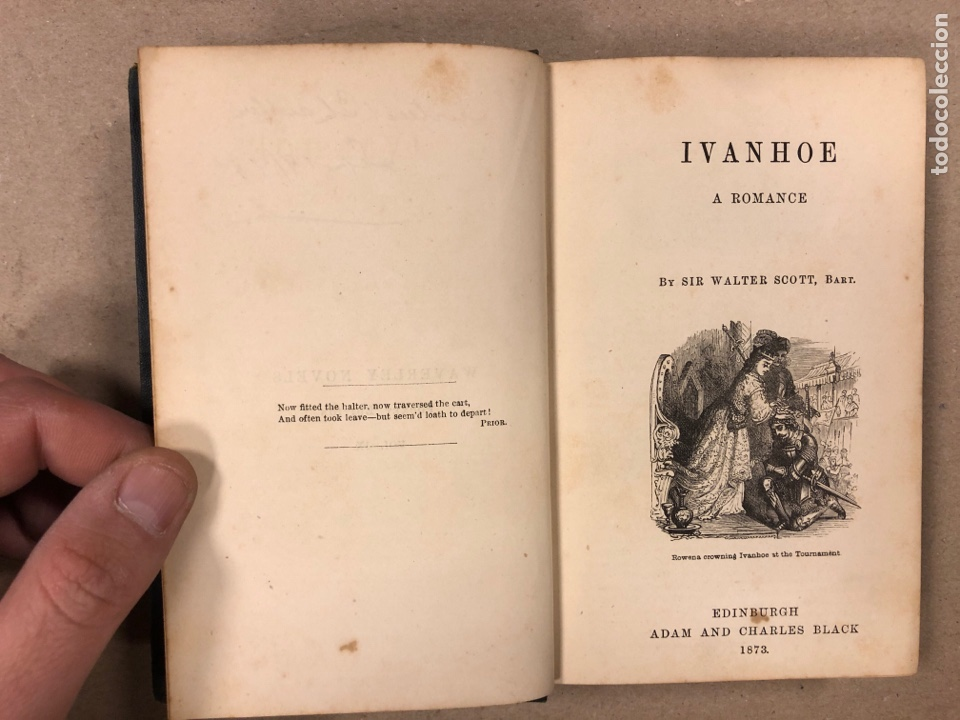 Libros antiguos: BAVERLEY NOVELS. LOTE DE 6 LIBROS DE 1873: GUY MANNEIRO, THE ANTIQUARY, IVANHOE, KENILWORTH,... - Foto 11 - 196067176