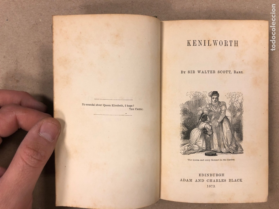 Libros antiguos: BAVERLEY NOVELS. LOTE DE 6 LIBROS DE 1873: GUY MANNEIRO, THE ANTIQUARY, IVANHOE, KENILWORTH,... - Foto 15 - 196067176