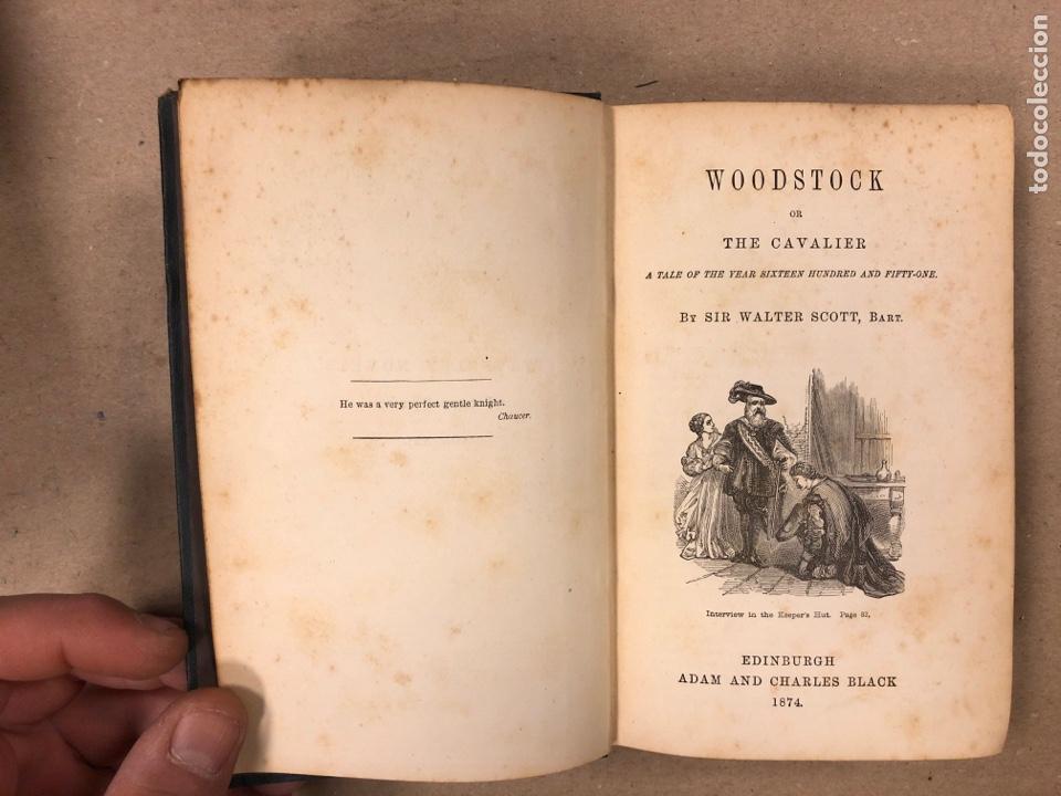 Libros antiguos: BAVERLEY NOVELS. LOTE DE 6 LIBROS DE 1873: GUY MANNEIRO, THE ANTIQUARY, IVANHOE, KENILWORTH,... - Foto 23 - 196067176