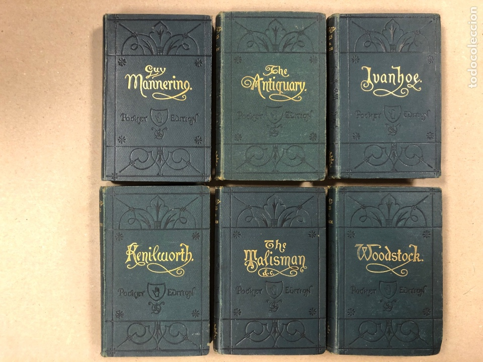BAVERLEY NOVELS. LOTE DE 6 LIBROS DE 1873: GUY MANNEIRO, THE ANTIQUARY, IVANHOE, KENILWORTH,... (Libros Antiguos, Raros y Curiosos - Otros Idiomas)