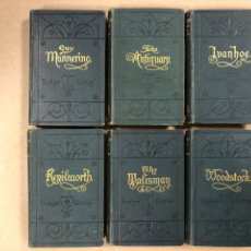 Libros antiguos: BAVERLEY NOVELS. LOTE DE 6 LIBROS DE 1873: GUY MANNEIRO, THE ANTIQUARY, IVANHOE, KENILWORTH,.... Lote 196067176