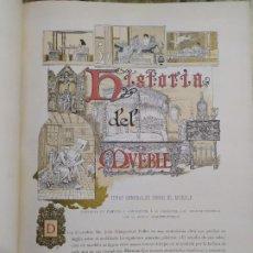 Libros antiguos: 1897. HISTORIA DEL MUEBLE/ DEL TEJIDO/ METALISTERÍA/ CERÁMICA/ VIDRIOS. MONTANER Y SIMÓN. . Lote 196130430