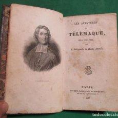 Libros antiguos: LES AVENTURES DE TELEMAQUE -FENELON- BAUDRY LIBRAIRIE EUROPEENE -EN FRANCES- PARIS AÑO 1837. Lote 196328123