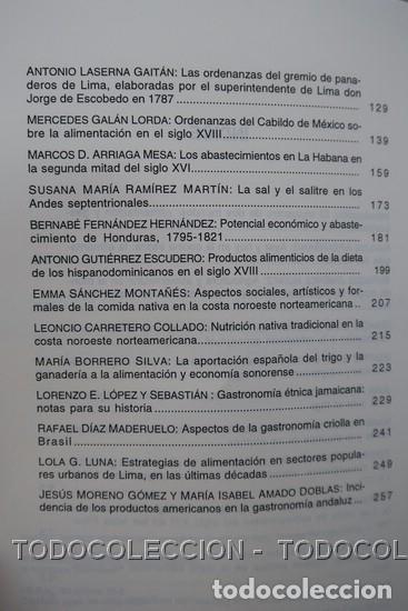 Libros antiguos: LIBRO ALIMENTACION Y GASTRONOMIA : CINCO SIGLOS DE INTERCAMBIOS ENTRE EUROPA Y AMERICA . 1998 - Foto 7 - 196510015