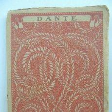 Livres anciens: DANTE LAS MEJORES POESIAS DE LOS MEJORES POETAS EDITORIAL CERVANTES. Lote 196570942