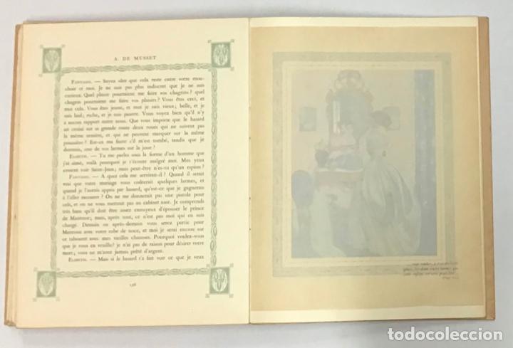 Libros antiguos: LA NUIT VENITIENNE. FANTASIO. LES CAPRICES DE MARIANNE. - MUSSET, Alfred de. - Foto 4 - 196642612