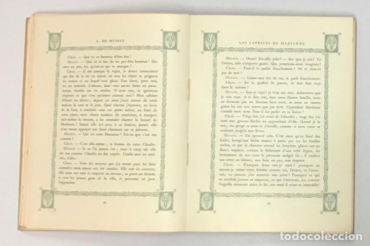 Libros antiguos: LA NUIT VENITIENNE. FANTASIO. LES CAPRICES DE MARIANNE. - MUSSET, Alfred de. - Foto 5 - 196642612