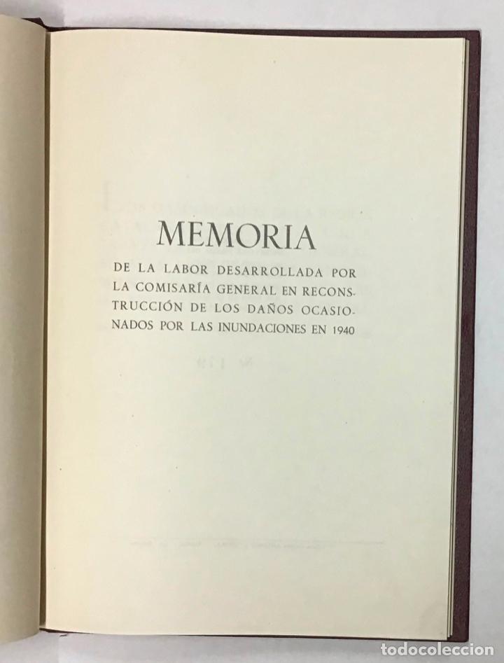 Libros antiguos: COMISARIA GENERAL DE REGIONES INUNDADAS. GERONA 1940. GIRONA - INUNDACIONES - Foto 4 - 196648457