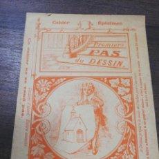 Libros antiguos: CAHIER SPECIMEN. PREMIERS PAS DU DESSIN. . Lote 196730990