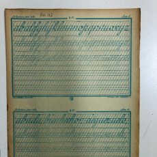 Libros antiguos: MANUAL DE ESCRITURA CALLEJA Nº1C POR JOSE CABALLERO. 10 PAGINAS. Lote 196753066