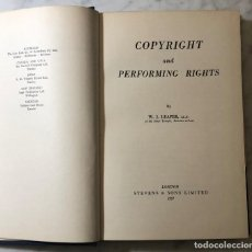 Livres anciens: COPYRIGHT AND PERFORMING RIGHT-1957(33€). Lote 196780297