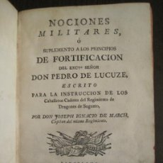 Libros antiguos: NOCIONES MILITARES-CON LAMINAS Y GRABADOS-LIBRO ANTIGUO-AÑO 1781-VER FOTOS-(V-19.376). Lote 196791198