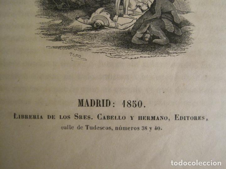 Libros antiguos: LAS AVENTURAS DE TELEMACO-CON GRABADOS-MADRID AÑO 1850-VER FOTOS-(V-19.401) - Foto 2 - 196800742