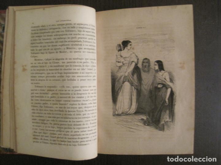 Libros antiguos: LAS AVENTURAS DE TELEMACO-CON GRABADOS-MADRID AÑO 1850-VER FOTOS-(V-19.401) - Foto 7 - 196800742