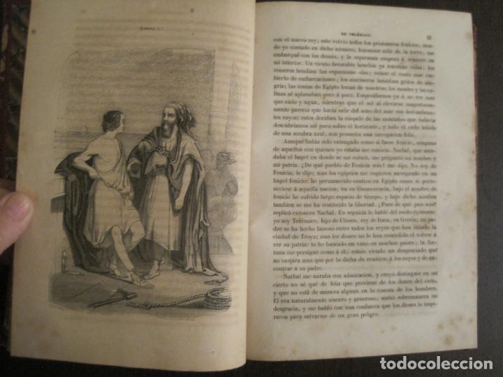 Libros antiguos: LAS AVENTURAS DE TELEMACO-CON GRABADOS-MADRID AÑO 1850-VER FOTOS-(V-19.401) - Foto 8 - 196800742