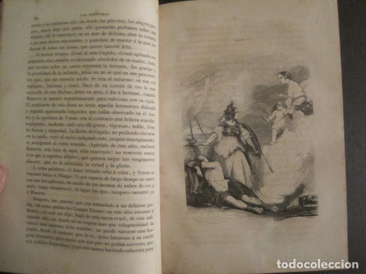 Libros antiguos: LAS AVENTURAS DE TELEMACO-CON GRABADOS-MADRID AÑO 1850-VER FOTOS-(V-19.401) - Foto 9 - 196800742