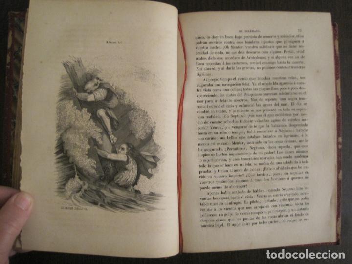 Libros antiguos: LAS AVENTURAS DE TELEMACO-CON GRABADOS-MADRID AÑO 1850-VER FOTOS-(V-19.401) - Foto 10 - 196800742