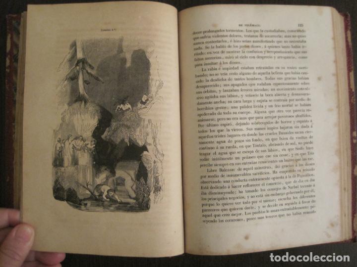 Libros antiguos: LAS AVENTURAS DE TELEMACO-CON GRABADOS-MADRID AÑO 1850-VER FOTOS-(V-19.401) - Foto 11 - 196800742