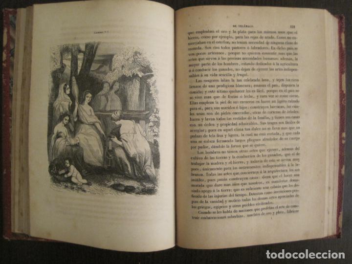 Libros antiguos: LAS AVENTURAS DE TELEMACO-CON GRABADOS-MADRID AÑO 1850-VER FOTOS-(V-19.401) - Foto 12 - 196800742