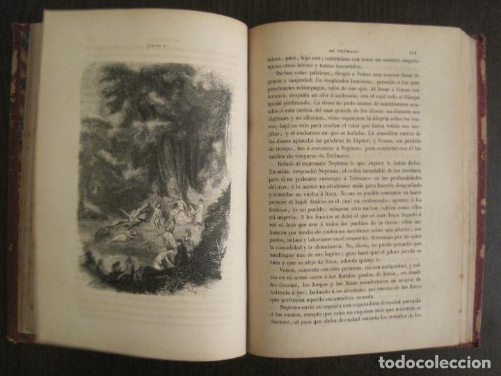 Libros antiguos: LAS AVENTURAS DE TELEMACO-CON GRABADOS-MADRID AÑO 1850-VER FOTOS-(V-19.401) - Foto 13 - 196800742
