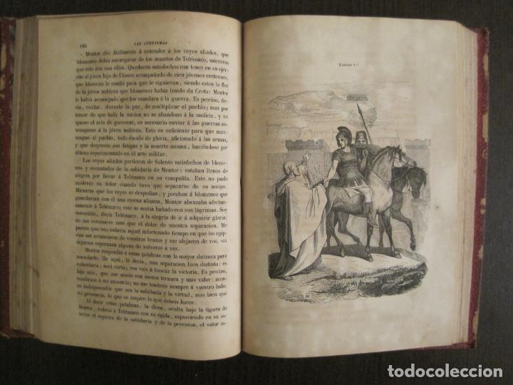 Libros antiguos: LAS AVENTURAS DE TELEMACO-CON GRABADOS-MADRID AÑO 1850-VER FOTOS-(V-19.401) - Foto 15 - 196800742