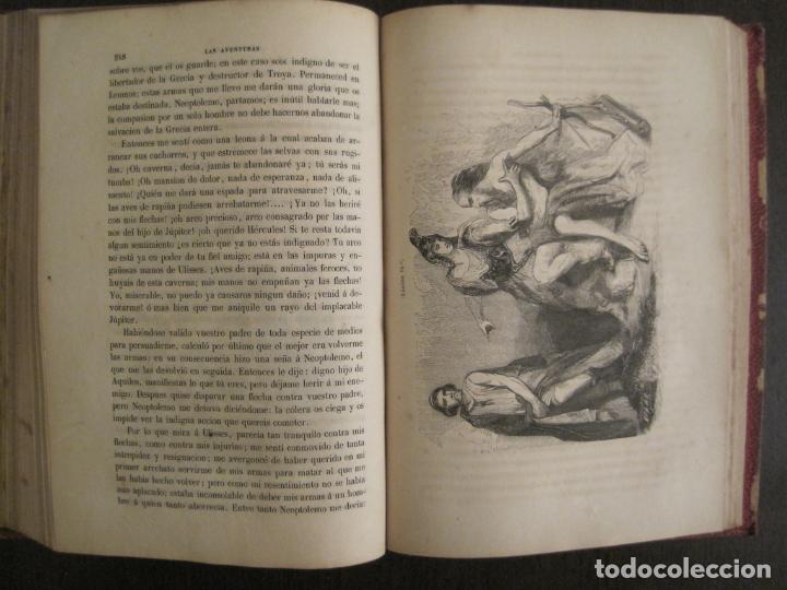 Libros antiguos: LAS AVENTURAS DE TELEMACO-CON GRABADOS-MADRID AÑO 1850-VER FOTOS-(V-19.401) - Foto 16 - 196800742