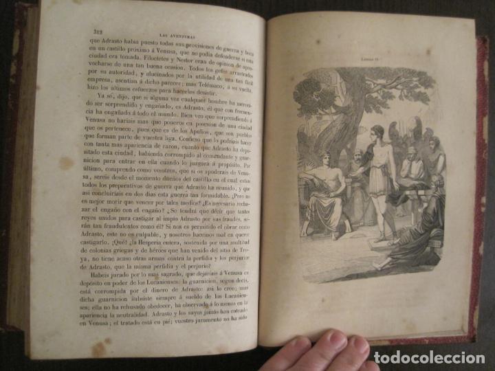Libros antiguos: LAS AVENTURAS DE TELEMACO-CON GRABADOS-MADRID AÑO 1850-VER FOTOS-(V-19.401) - Foto 17 - 196800742