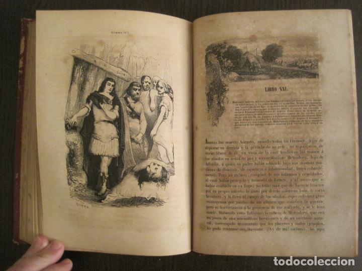 Libros antiguos: LAS AVENTURAS DE TELEMACO-CON GRABADOS-MADRID AÑO 1850-VER FOTOS-(V-19.401) - Foto 18 - 196800742