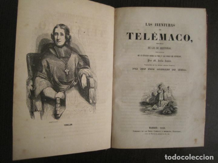 LAS AVENTURAS DE TELEMACO-CON GRABADOS-MADRID AÑO 1850-VER FOTOS-(V-19.401) (Libros Antiguos, Raros y Curiosos - Literatura - Otros)