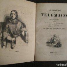 Libros antiguos: LAS AVENTURAS DE TELEMACO-CON GRABADOS-MADRID AÑO 1850-VER FOTOS-(V-19.401). Lote 196800742
