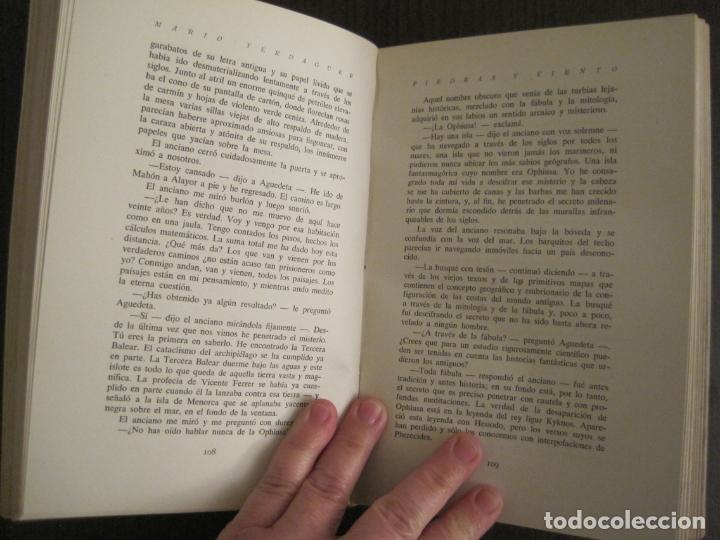 Libros antiguos: PIEDRAS Y VIENTO-MARIO VERDAGUER-MENORCA-VER FOTOS-(V-19.400) - Foto 10 - 196801326