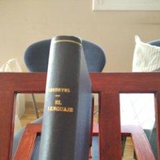 Libros antiguos: EL LENGUAJE-INTRODUCCION LINGUISTICA A LA HISTORIA-J.VENDRYES-EDITORIAL CERVANTES-1925. Lote 196802907