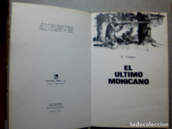 Libros antiguos: EL ÚLTIMO MOHICANO DE F. COOPER EDITORIAL FHER S.A. - Foto 3 - 196976848