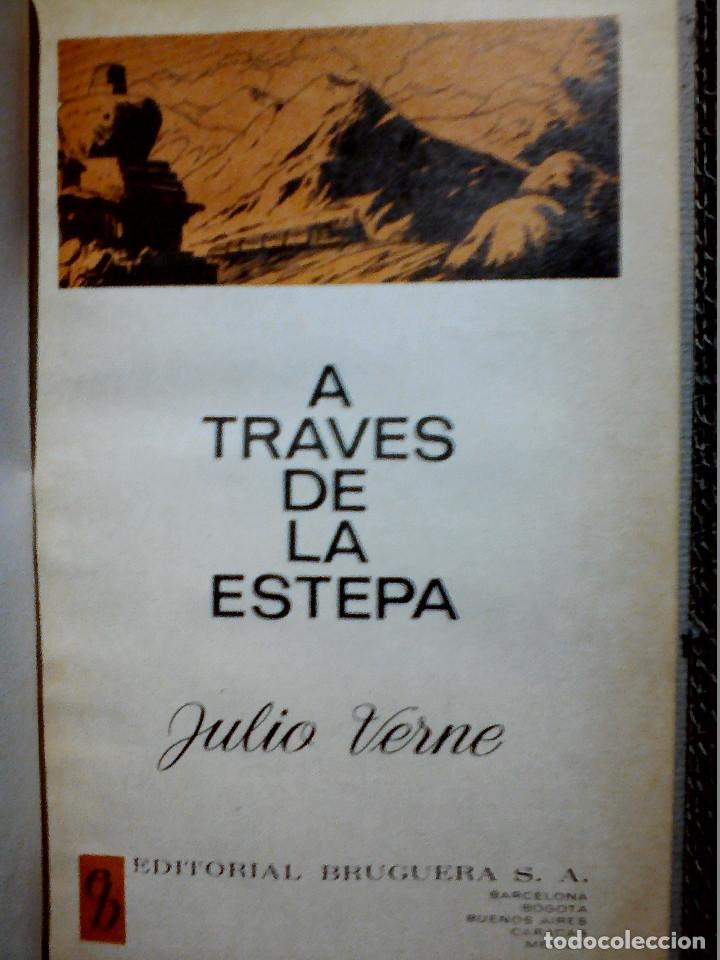 Libros antiguos: A TRAVÉS DE LA ESTEPA DE JULIO VERNE EDITORIAL BRUGUERA - Foto 2 - 196977137