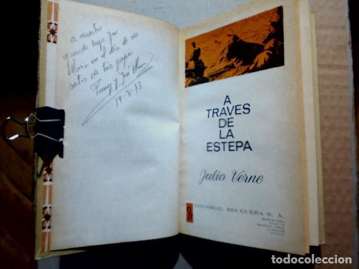 Libros antiguos: A TRAVÉS DE LA ESTEPA DE JULIO VERNE EDITORIAL BRUGUERA - Foto 3 - 196977137