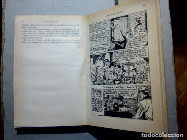 Libros antiguos: A TRAVÉS DE LA ESTEPA DE JULIO VERNE EDITORIAL BRUGUERA - Foto 4 - 196977137