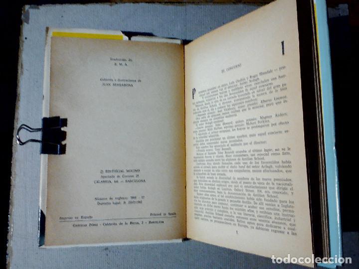 Libros antiguos: LOS PIRATAS DE HALIFAX JULIO VERNE EDITORIAL MOLINO - Foto 3 - 196978282