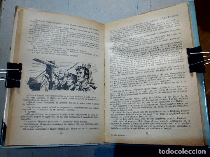 Libros antiguos: LOS PIRATAS DE HALIFAX JULIO VERNE EDITORIAL MOLINO - Foto 5 - 196978282