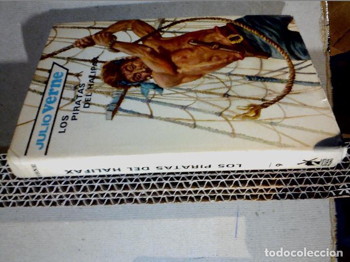 Libros antiguos: LOS PIRATAS DE HALIFAX JULIO VERNE EDITORIAL MOLINO - Foto 6 - 196978282