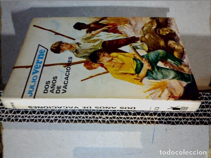 Libros antiguos: DOS AÑOS DE VACACIONES JULIO VERNE EDITORIAL MOLINO - Foto 8 - 196979351