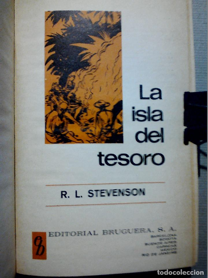 Libros antiguos: LA ISLA DEL TESORO DE R.L. STEVENSON EDITORIAL BRUGUERA - Foto 2 - 196980052