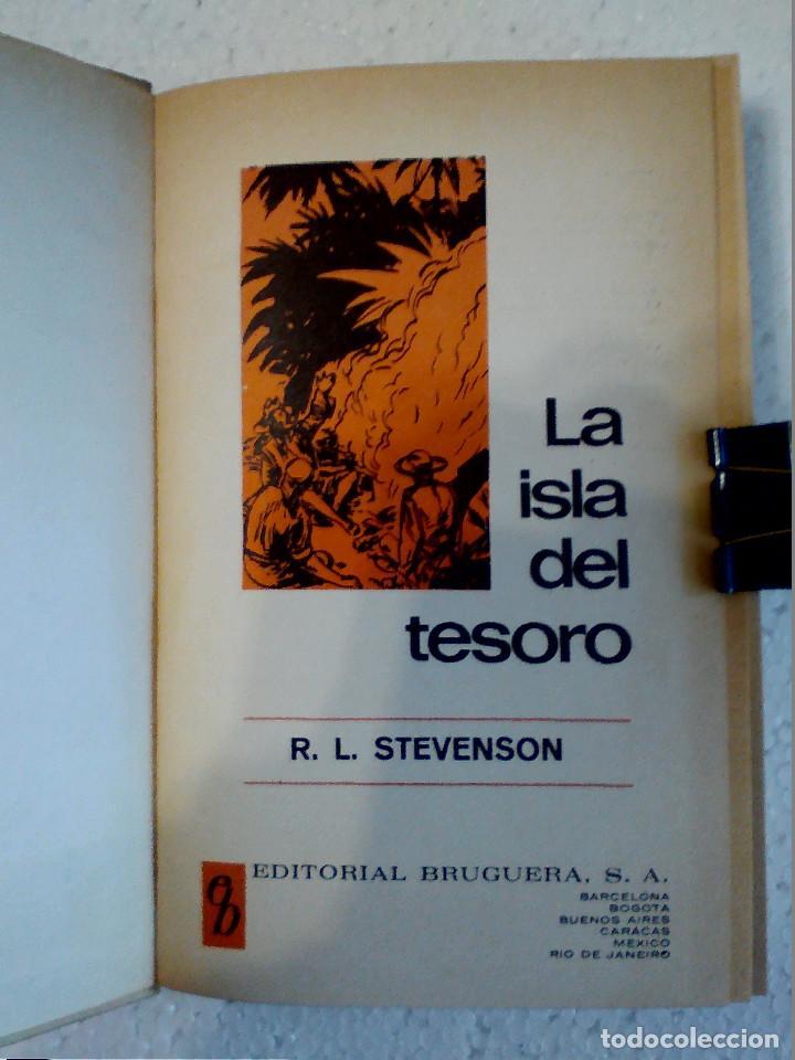 Libros antiguos: LA ISLA DEL TESORO DE R.L. STEVENSON EDITORIAL BRUGUERA - Foto 3 - 196980052
