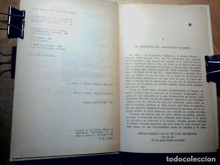 Libros antiguos: LA ISLA DEL TESORO DE R.L. STEVENSON EDITORIAL BRUGUERA - Foto 4 - 196980052