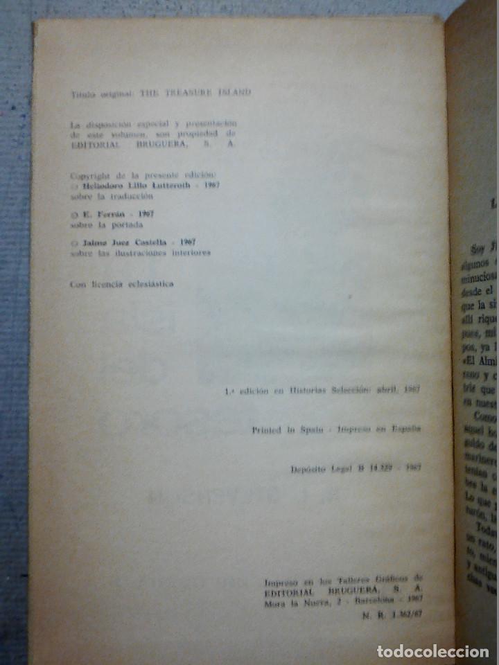 Libros antiguos: LA ISLA DEL TESORO DE R.L. STEVENSON EDITORIAL BRUGUERA - Foto 5 - 196980052